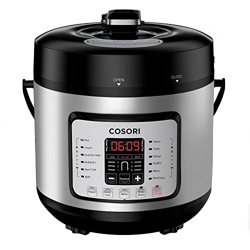 Cheap COSORI 7-in-1 6 Qt Electric Pressure Cooker, Slow Cooker, Rice Cooker, Yogurt Maker, Sauté, Steamer & Warmer, Instant Stainless Steel Pot, Extra Sealing Ring, Glass Lid, Recipe, 2-Year Warranty, 120V