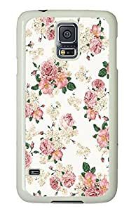 Samsung S5 case slim Cute Floral Pattern Best PC White Custom Samsung Galaxy S5 Case Cover