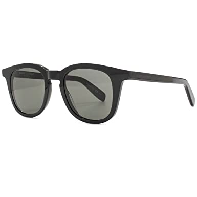 5938a6db5157 Image Unavailable. Image not available for. Color: Saint Laurent SL143 001 Black  Smoke ...