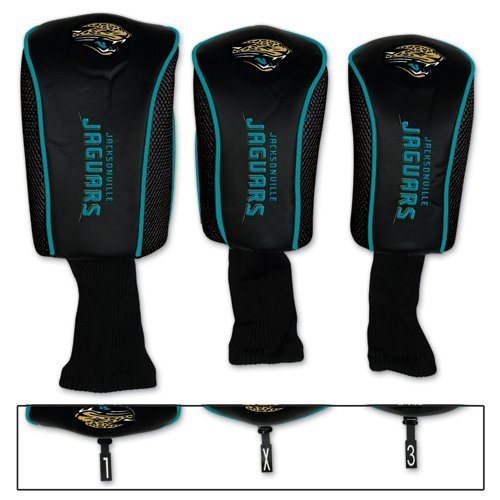 Jacksonville Jaguars Golf 3 pack MB Headcovers by NFL