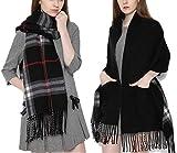 Best Aircee Blankets - AIRCEE Autumn Winter Soft Wrap Shawl Plaid Tartan Review