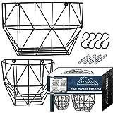 Wall Hanging Fruit Basket For Storage| Metal Fruit Basket with Hooks & Screws|Wall Storage Metal Basket For Storing…