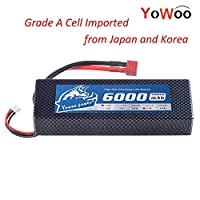 YoWoo 2S 5200mAh 7.4V 35C LiPo Battery XT60/Deans T/Traxxas Plug Hard Case Max 70C for RC Evader BX Car Boat Traxxas HPI Truck Truggy Buggy