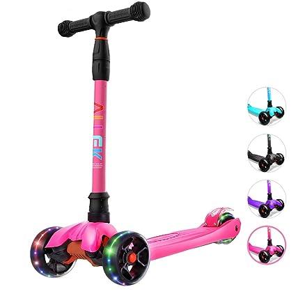 Amazon.com: Allek Kick Scooter, Lean N Glide Scooter con ...
