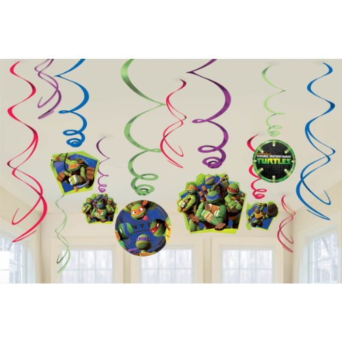 American Greetings, Teenage Mutant Ninja Turtles Hanging Swirl Decorations, 12-Count]()