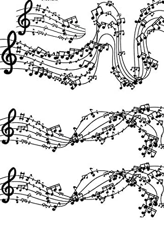 The Rhythm of Music Notes - 34331 - Choose Ceramic or Glass Decal - Choose from 3 Different Sizes XpressionDecals