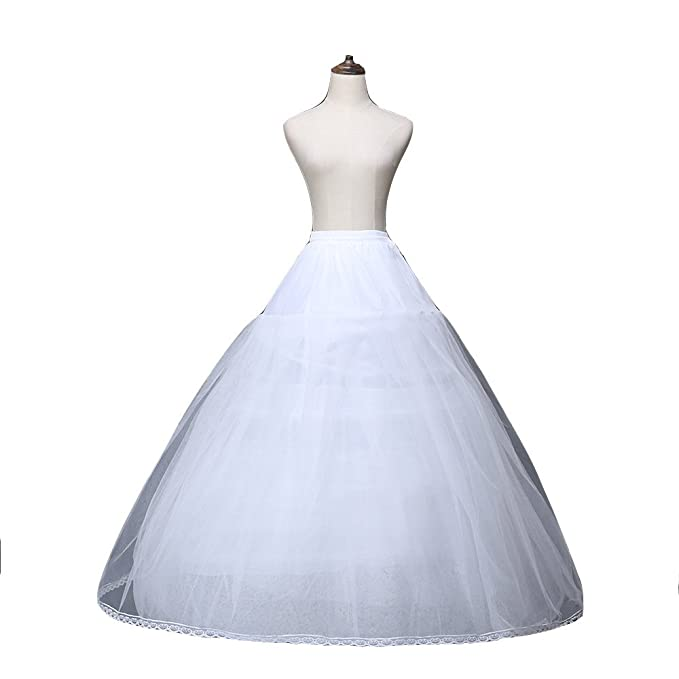 Scarisee Women\'s 8 Layers Tulle No Hoop Underskirts Ball Gown Prom ...