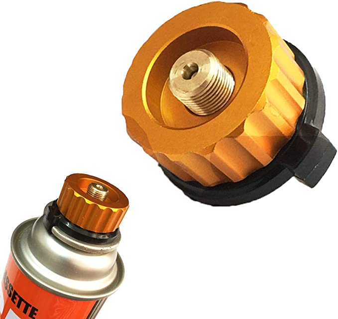 Adaptador de la estufa de gas para acampar Conector de la estufa ,Apagado automático al aire libre Gas de acampar,Cartucho del cilindro Tipo dividido ...