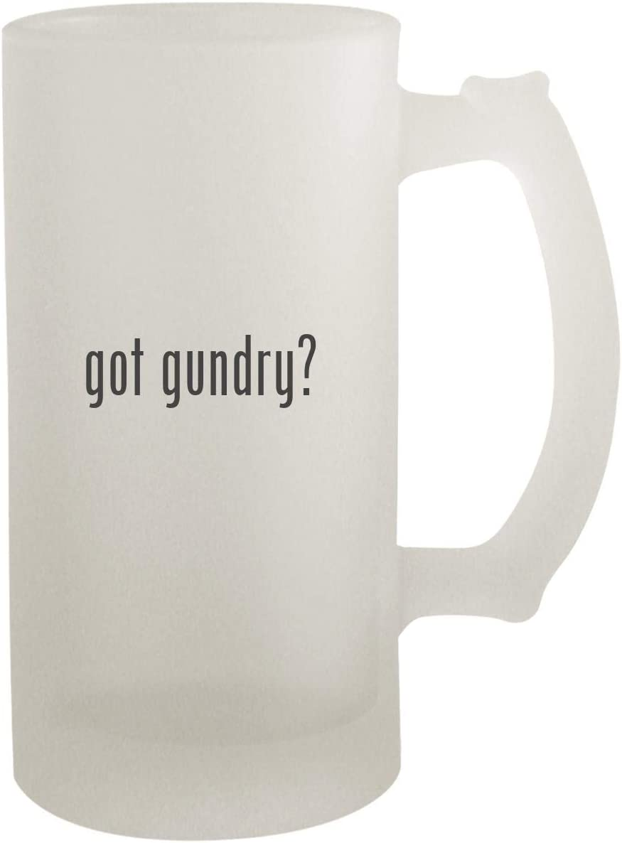 got gundry? - Frosted Glass 16oz Beer Stein