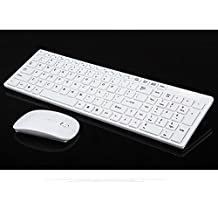 BABYQUEEN The Wireless Keyboard and Mouse Mute Desktop Notebook Wireless Mouse and Keyboard Office Home White