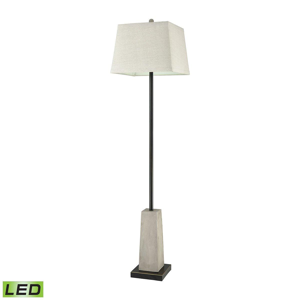 Concrete Blonde Outdoor Floor Lamp