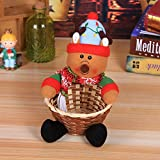 Hot Sale!DEESEE(TM)Merry Christmas Candy Storage Basket Decoration Santa Claus Storage Basket (C)