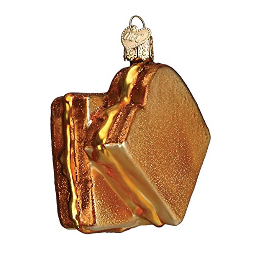 Old World Christmas Grilled Cheese Sandwich Glass Blown ()