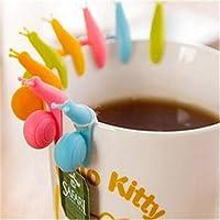 5pcs Mini soporte para bolsas de té caracol
