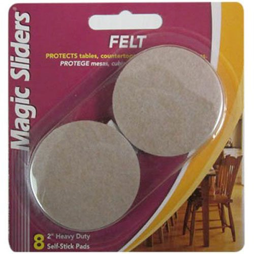 Magic Sliders L P 63003 8Pk 2'' Oat Round Felt Pad by Magic Sliders