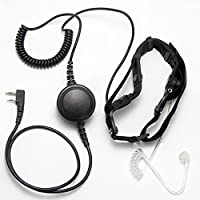 CQtransceiver Heavy Duty Throat Mic Headset for Baofeng Portable Radio UV-5R UV-3R PLUS