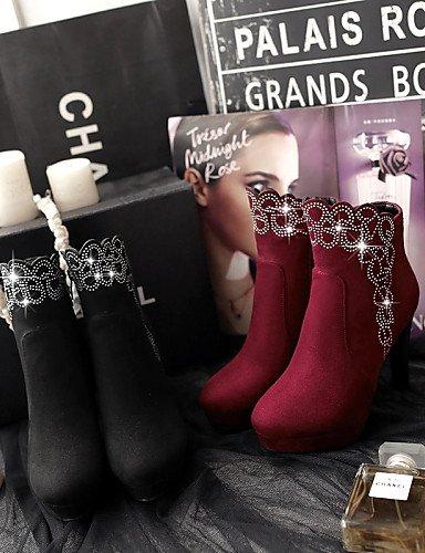 Cn43 Uk5 5 Redonda Moda Tacón Botas Zapatos 5 Rojo Eu42 Cn38 5 Vellón A us10 Casual Black De Uk8 Red 5 La Stiletto Xzz Punta Mujer Vestido us7 Negro Eu38 1BqYpwp