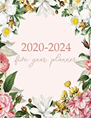 2020-2024 Five Year Planner: Monthly Logbook and Journal, 60 Months Calendar (5 Year Monthly Agenda 2020, 2021