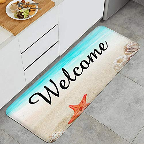 (Back Kitchen Doormat Welcome Beach Starfish Shell Welcome Carpets Vintage Kitchen Doormats )