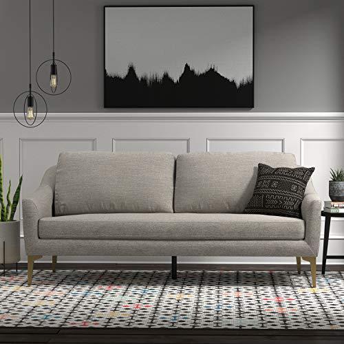 "Rivet Alonzo Contemporary Modern Sofa Couch, 80""W, Grey"