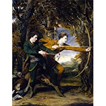 The Perfect effect Canvas of oil painting 'Sir Joshua Reynolds - Colonel Acland and Lord Sydney- The Archers,1769-1770' ,size: 10x13 inch / 25x33 cm ,this Reproductions Art Decorative Canvas Prints is fit for dining Room decor and Home gallery art and Gifts