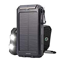 Soluser 10000mAh Portable Solar Charger ...