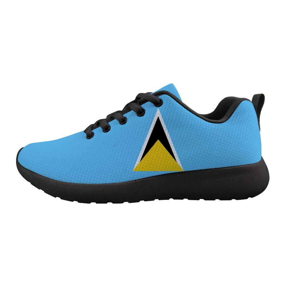 Owaheson Cushioning Sneaker Trail Running Shoe Mens Womens Saint Lucia Flag