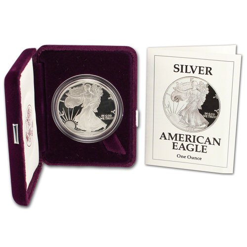 1992 S American Silver Eagle Proof $1 OGP US - Proof American Eagle Coin Silver