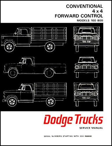 THE ABSOLUTE BEST 1967 1968 DODGE PICKUP & TRUCKS FACTORY REPAIR SHOP & SERVICE MANUAL - INCLUDES: Power Wagon, 100, 200, 300, 400, 500, 600, 800, D, P, S, W, Forward Control, Crew Cab, School Bus, 4x4, 4x2, & 6x4. 67 68