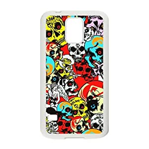 Colorful Skull Custom Protective Hard Phone Cae For Samsung Galaxy S5