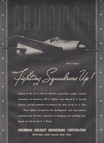 (Fighting Squadrons Up! Grumman F4F-3 Wildcat ad 1941)