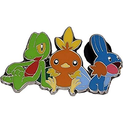 Rare Torchic/Treecko/Mudkip Pin (Metal, 1 Inch) from The Pokemon Trading Card Game Hoenn Box (2014): Toys & Games