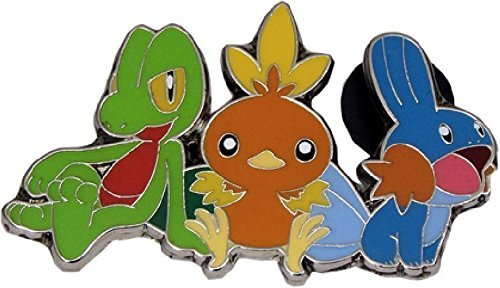 Rare Torchic/Treecko/Mudkip Pin (Metal, 1 Inch) from the Pokemon Trading Card Game