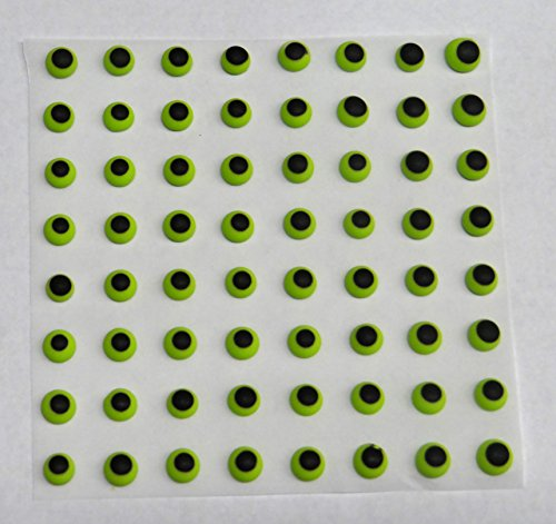 Green Candy Eyes Edible Icing Royal Cake Candy Cookie Decorations 1/4