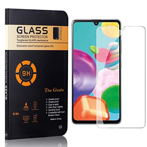 The Grafu Displayschutzfolie für Galaxy A41, Anti Fingerabdruck, 3D Touch, Ultra klar Hart Schutzfilm aus Gehärtetem Glas für Samsung Galaxy A41, 1 Stück