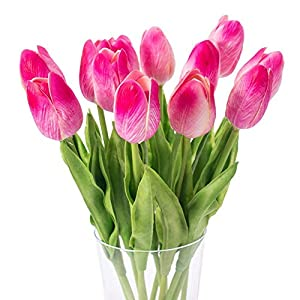 10PCS Wedding Decor PU Tulip Artificial Wedding Home Design Bouquet Flowers 9