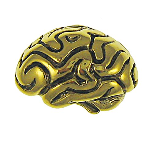 Brain Gold Lapel Pin - 75 Count by Jim Clift Design