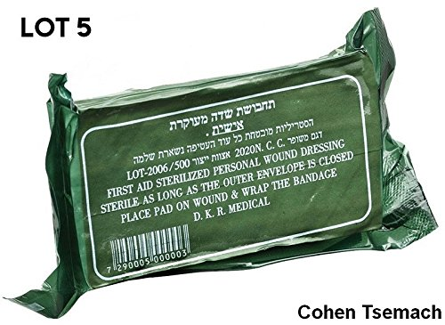 - LOT 5 dressing Trauma Bandage Field Emergency First Aid Survival Sealed IDF Pad