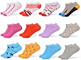 Gallery Seven Women's Ankle Socks - Low Cut Colorful Socks For Women - Size 9-11 - 12 Pack (Style - 3)