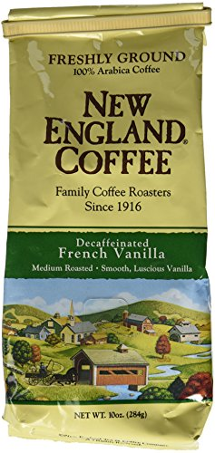 French Vanilla Decaffeinated, Ground, 10-ounce Bags (Pack of 3),New England