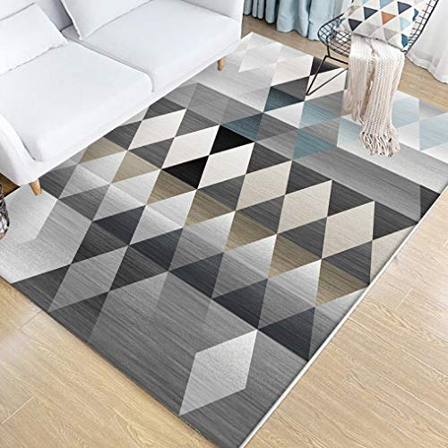 (Living Room Sofa Coffee Table Mat Non-Slip Bedroom Rug Geometric Abstract Floor Mat Home Decoration)