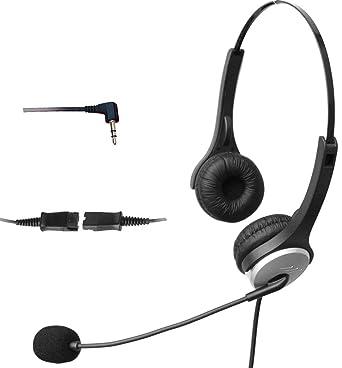 4 Call H502QJ25 2,5 con auriculares con cancelación de ruido Mic para Polycom Cisco