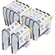 ZR-Printing ZR51 Ink Cartridge Compatible for Brother DCP/MFC Series,Replacement for Brother LC10 LC37 LC51 LC57 LC960 LC970 LC1000 (4 Black,2 Cyan,2 Magenta,2 Yellow)