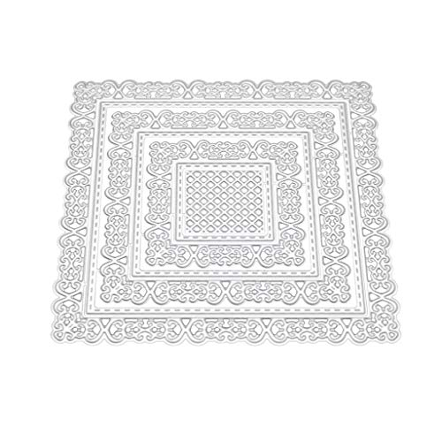 Silver Resin Place Card Frame - EAPTS Lace Frame Metal Cutting Dies Stencil DIY Scrapbooking Album Stamp Paper Card Embossing Crafts Decor