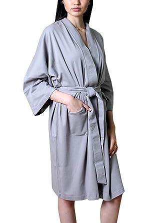e23440a64d Viverano 100% Organic Cotton Spa Bath Robe Kimono