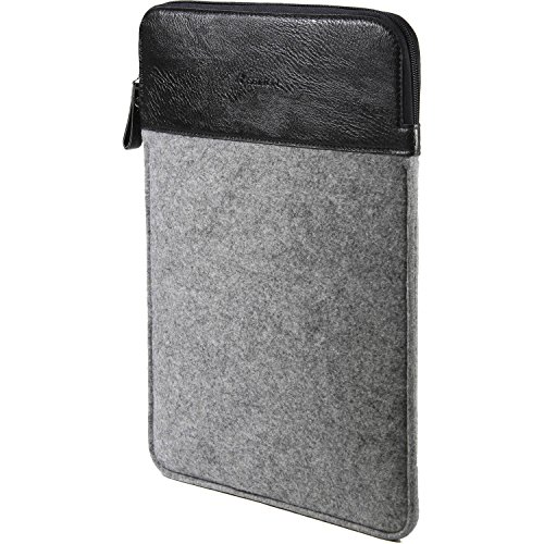 "13"" Laptop Case Protective Sleeve - MacBook Air/ MacBook Pro Retina/ iPad Pro 12.9/ Felt Zipper Bag Shockproof, Grey/Black by SettonBrothers"