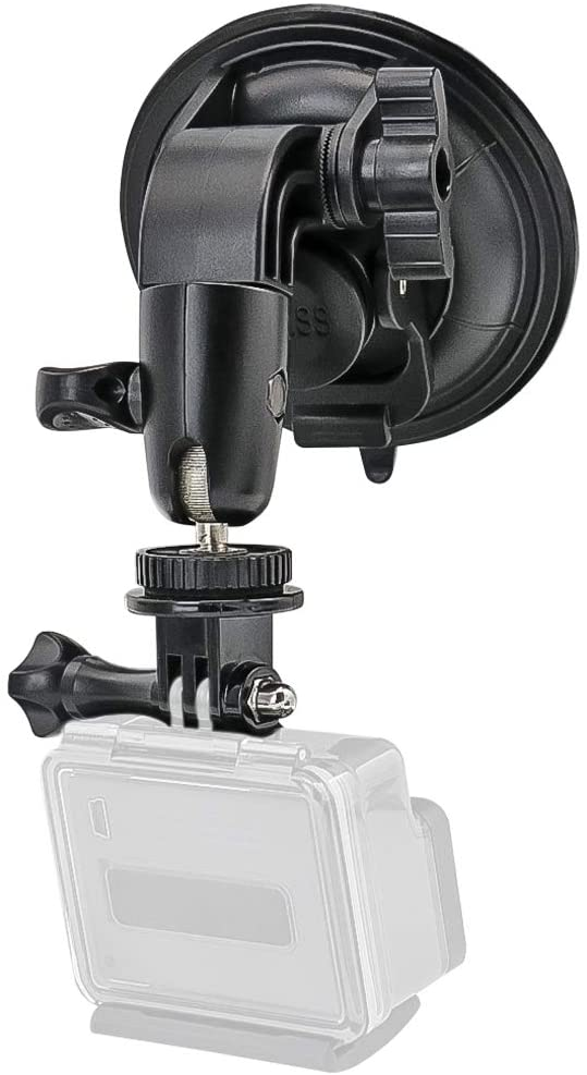 Heavy Duty Camera Car Windshield Mount for GoPro Hero Series