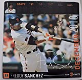 Freddy Sanchez AUTOGRAPHED San Francisco Giants 12x12 Calendar Page Signed 15X