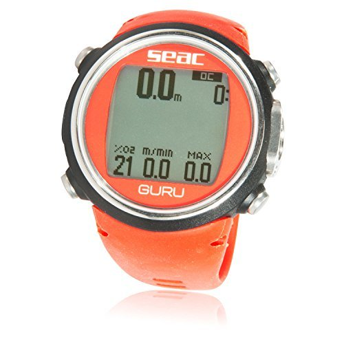 SEAC Guru Dive Computer Wrist Watch with Digital Compass, Red - Dive Watch Compass