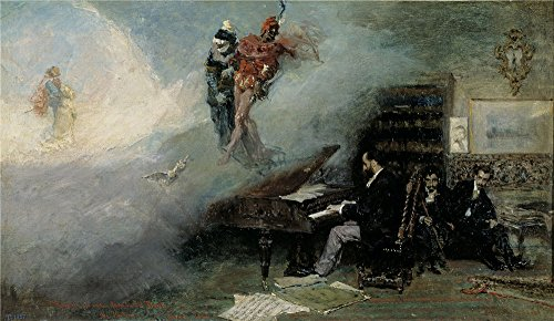 Polyster Canvas ,the High Definition Art Decorative Prints On Canvas Of Oil Painting 'Fortuny Marsal Mariano Fantasy On Faust 1866 ', 16 X 28 Inch / 41 X 70 Cm Is Best For Game Room Gallery Art And Home Artwork And Gifts (Best Fantasy Draft App)